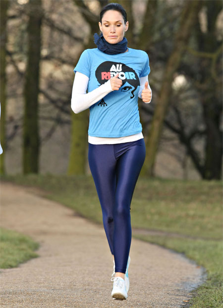 Jogging in Tight Trousers