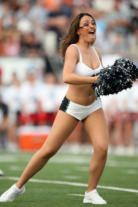 Cheerleader with Pom Poms