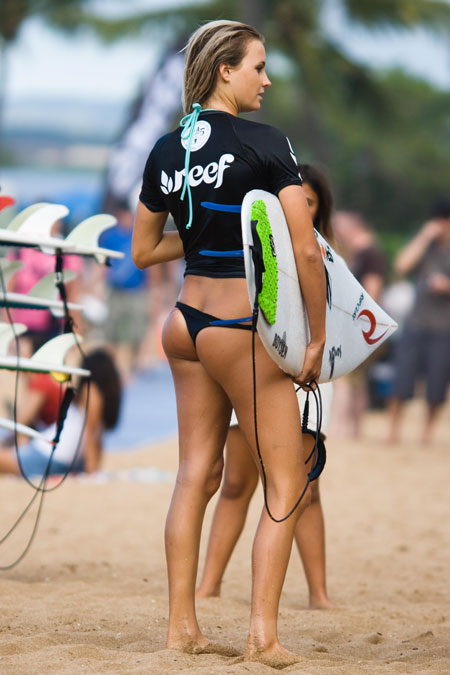 Hot Surfer in a Thong