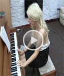 Holly Shows Off her Talent as she Plays the Piano