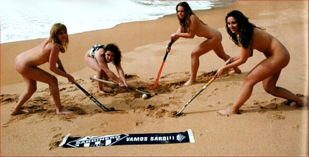 Naked Hockey Team