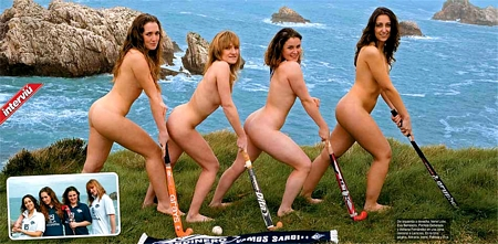Nude Hockey Team