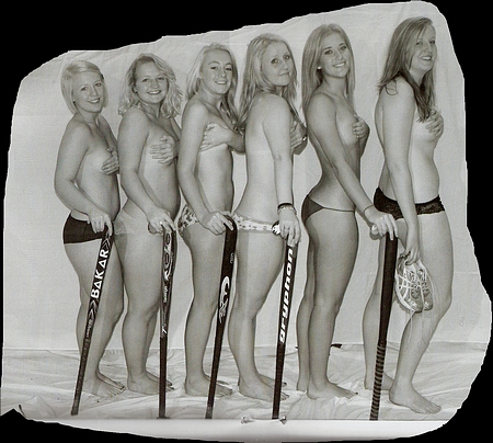 Topless Hockey Team