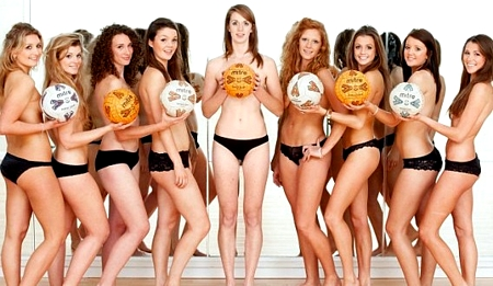 University of Bristol Netball Team Post Topless