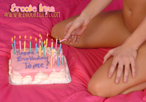 Brooke Lima with her Birthday Cake