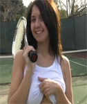 Chrissy from NextdoorModels Playing Tennis