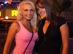 Shawna and Leigh are Barmaids in Linekers Bar in Tenerife