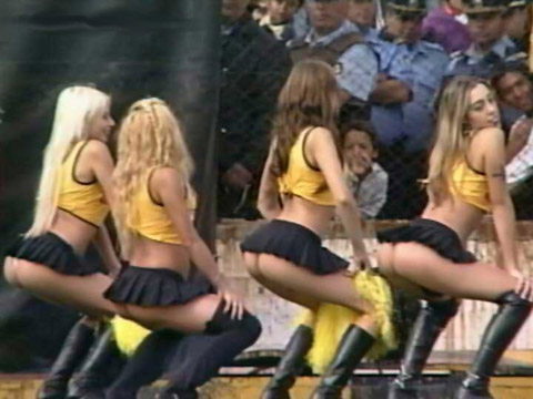 Argentine Cheerleaders in Miniskirts