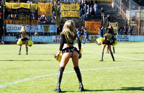 Argentine Cheerleaders with Super Hot Asses