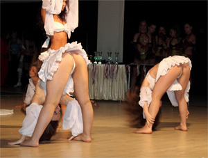 Dancers Upskirted on Stage