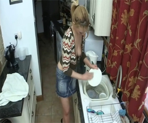 Washing the Dishes Downblouse