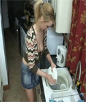 Washing the Dishes Downblouse – Katie K