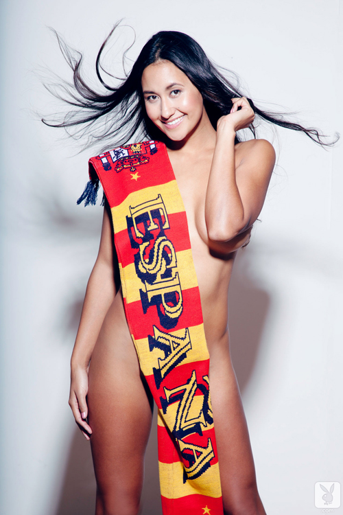 Jeannie Santiago in just a Scarf