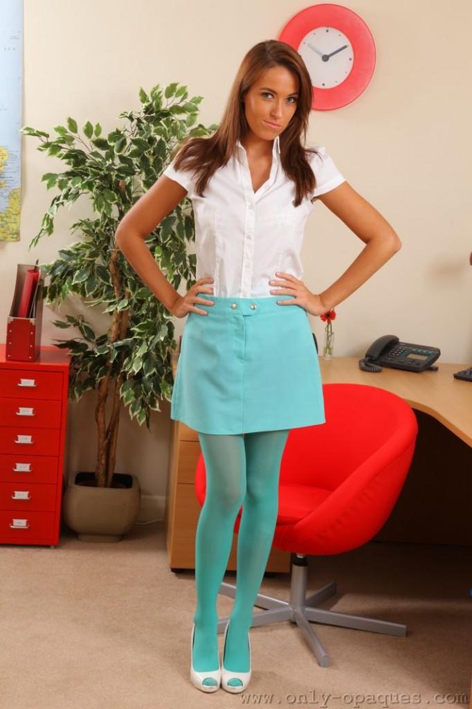 Super Cute Girl in Blue Opaques
