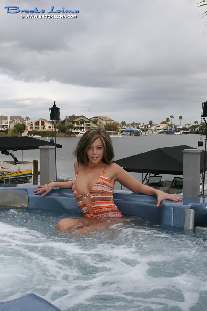 Brooke Lima in the Hot Tub