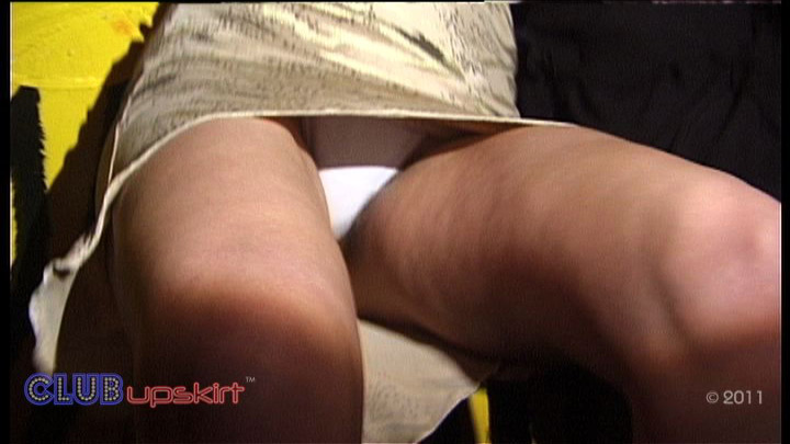 Club Upskirt - White Knickers