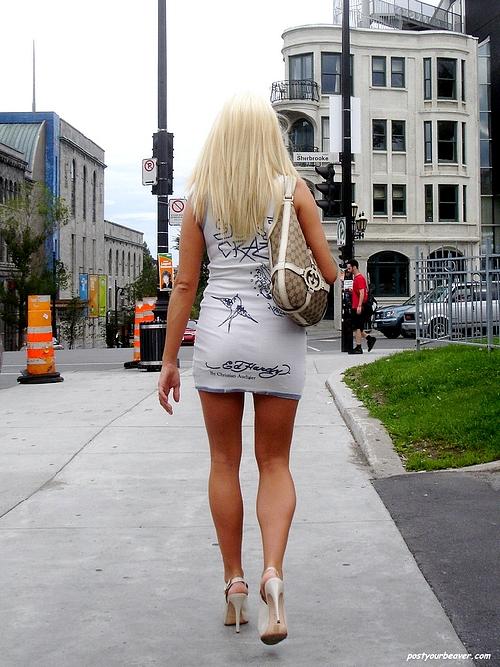 Blonde Street Candid