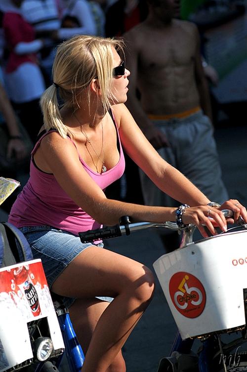 Blonde on a Bike