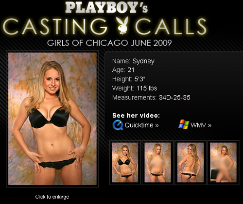 Sydney from the Playboy Casting Call in Chicago