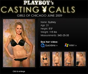 Sydney's Playboy Casting Call in Chicago