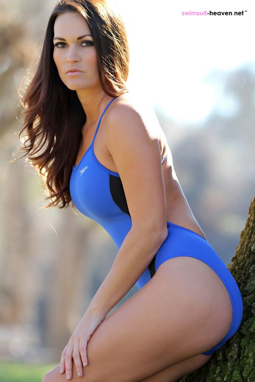 Blue Speedo Swimsuit Girl Morgan