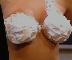 Girl in a Whipped Cream Bra on National TV