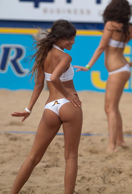 Volleyball Cheerleaders with Hot Asses