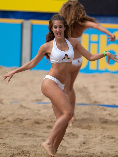 Hot Bikini Dancers on Sand