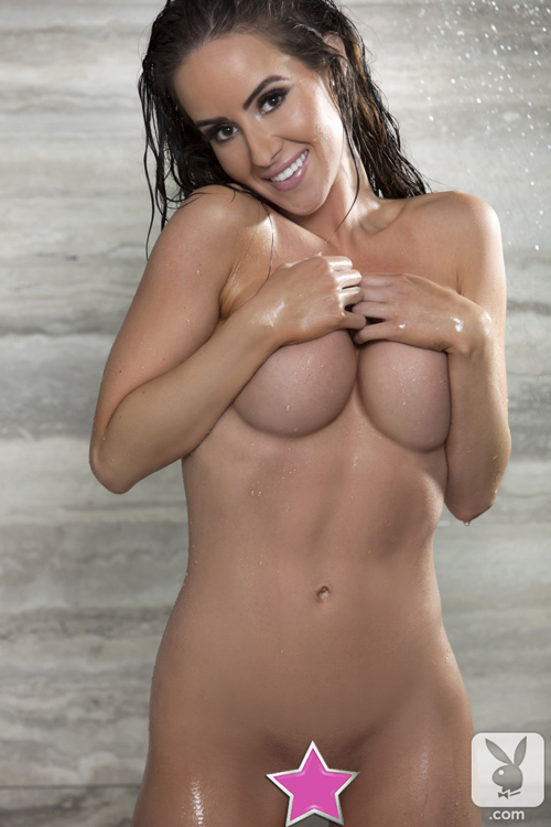 Ally Johnson naked in the shower