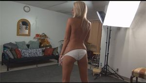 Blonde Holly slowly takes it off for WPL Productions