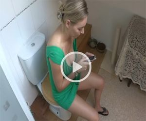 Hayley Marie Texting on DownblouseLoving