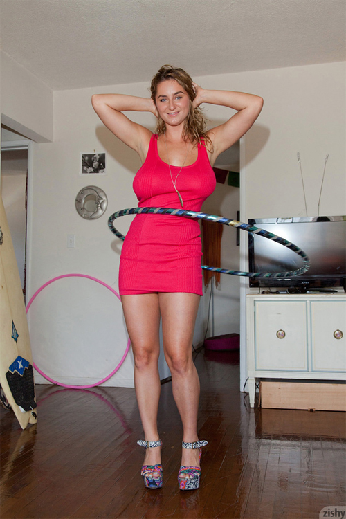Cassie Becker Hula Hoop Fun on Zishy