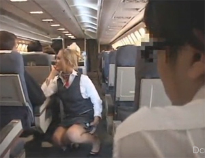 Upskirt Fun with an Air Hostess