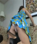 Katie Lou Upskirted as she does the Housework