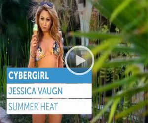 Playboy Cyber Girl Jessica Vaughn in her Bikini