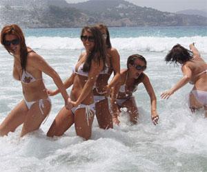 Bikini Girls Having Fun on UGotItFlauntIt