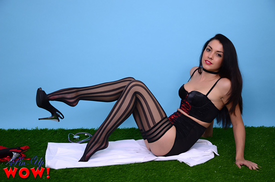 A Sexy Stocking Tease from Bryoni on Pinup WOW