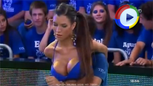 Sexy Game on Live TV - Busty Cleavage Fun