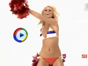 Sexy Blonde Cheerleader Dances