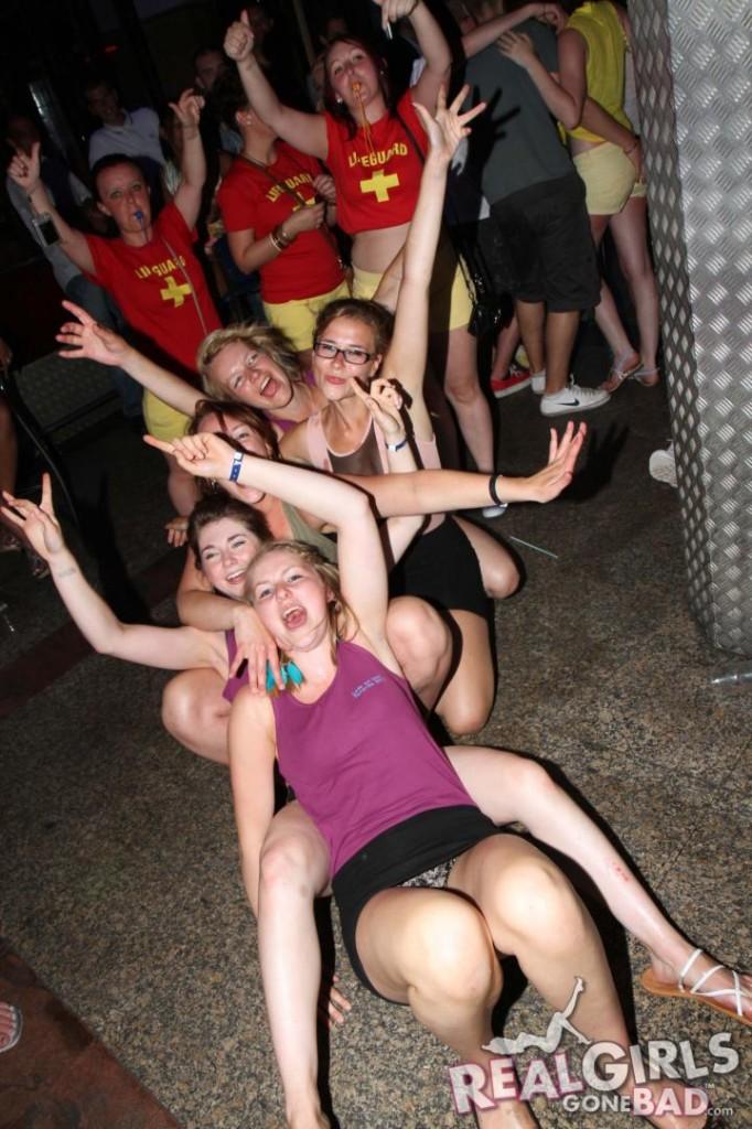 real british girls go wild on a pub crawl