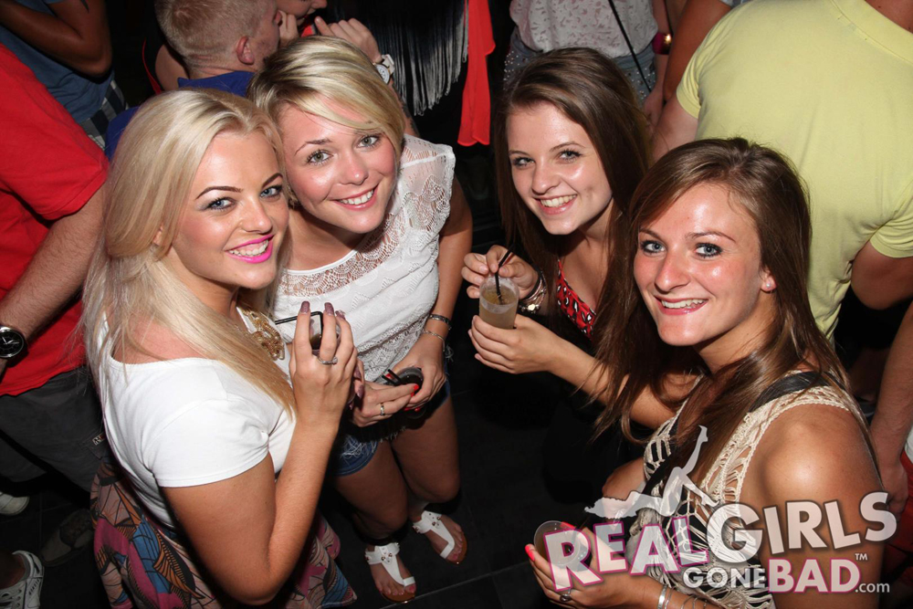 A Group of Cute British Girls Getting Drunk in a Bar