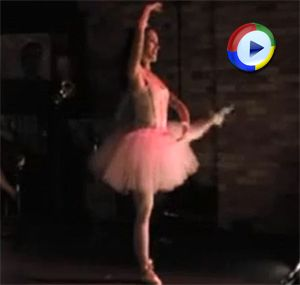 Video of a Ballerina Stripping on Stage