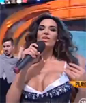 Busty Singer Nipslip on Live TV