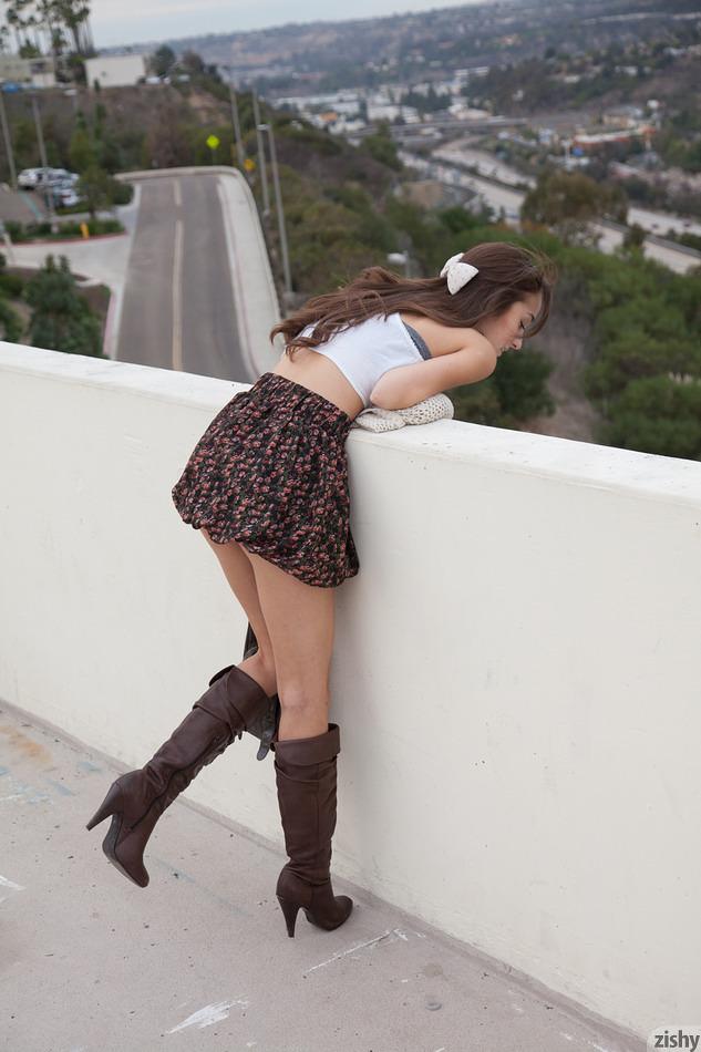 Zishy Girl Carlee Delima Teases in a Short Skirt for Zishy