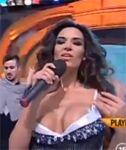 Busty Singer Nipslip on Live TV