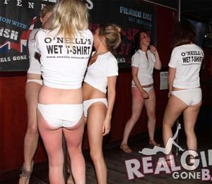 Real Girls Strip on Stage in Tenerife
