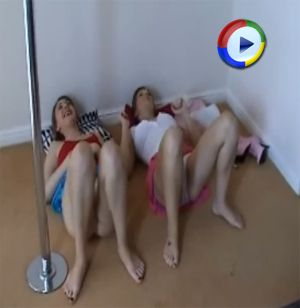 Upskirt Fun from Cate and Katie K on Downblouse Loving