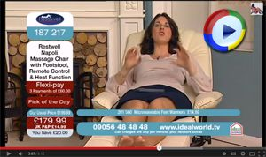 Upskirt on UK Shopping TV