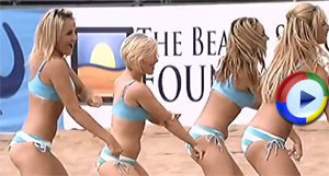Sexy Videos of Beach Cheerleaders in Bikinis