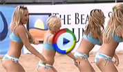 Sexy Beach Cheerleaders Dancing